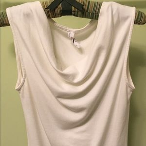 Indigenous Tops - Indigenous Clothing drape-front tank ivory small